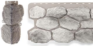 Фасадная панель и угол коллекции Бутовый камень