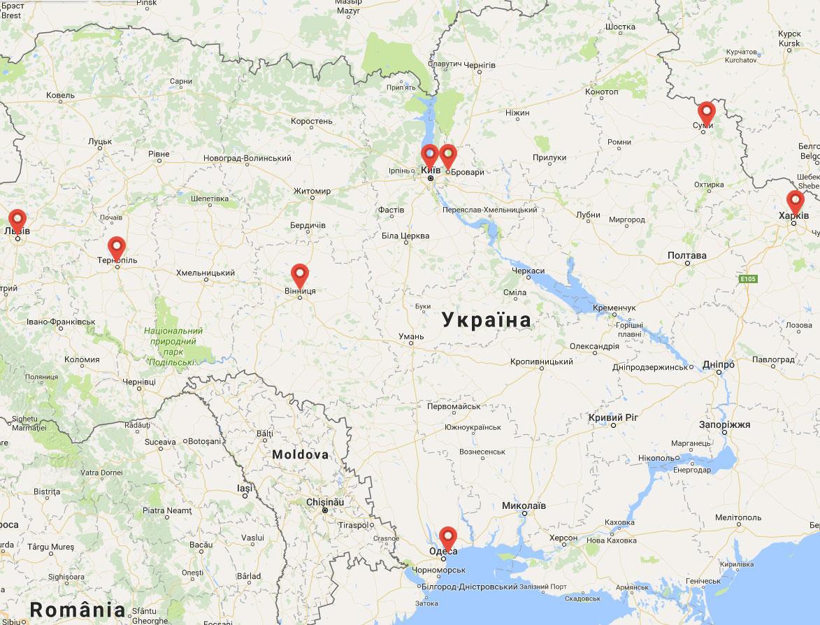 карта дилеров Альта-Профиль
