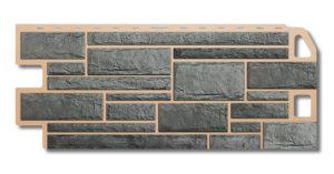 Фасадные панели под камень серый Альта-Профиль