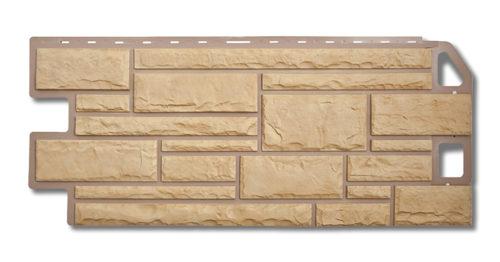 Фасадная панель под камень желтый Альта-Профиль
