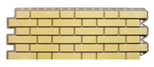 Фасадная панель Клинкерный кирпич желтый Альта-Профиль