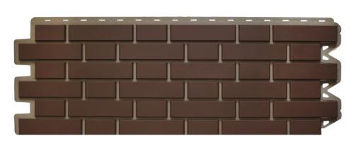 Фасадная панель Клинкерный кирпич коричневый Альта-Профиль