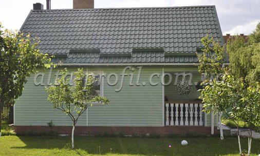 обшивка дома сайдингом Флекс цвет мята от Альта-Профиль, фото FLEX сайдинг