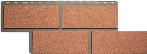 Фасадные панели Панель камень Неаполитанский Персиковый