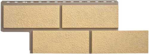 Фасадные панели Панель камень Неаполитанский Песчаный