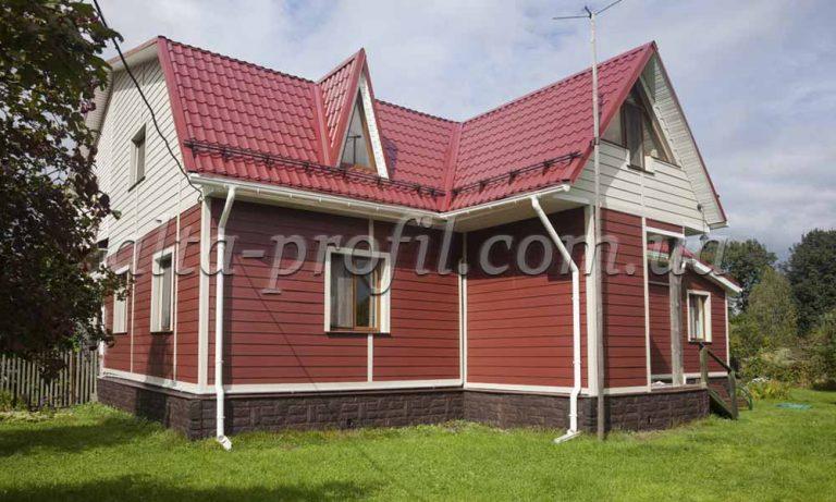 фото дома обшитого вспененым сайдингом Аlta-board
