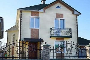 дизайн сайдингового фасада дома