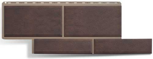 фасадная панель камень флорентийский коричневый