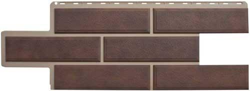 фасадная панель камень веницианский коричневый