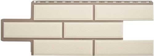 фасадная панель камень флорентийский белый