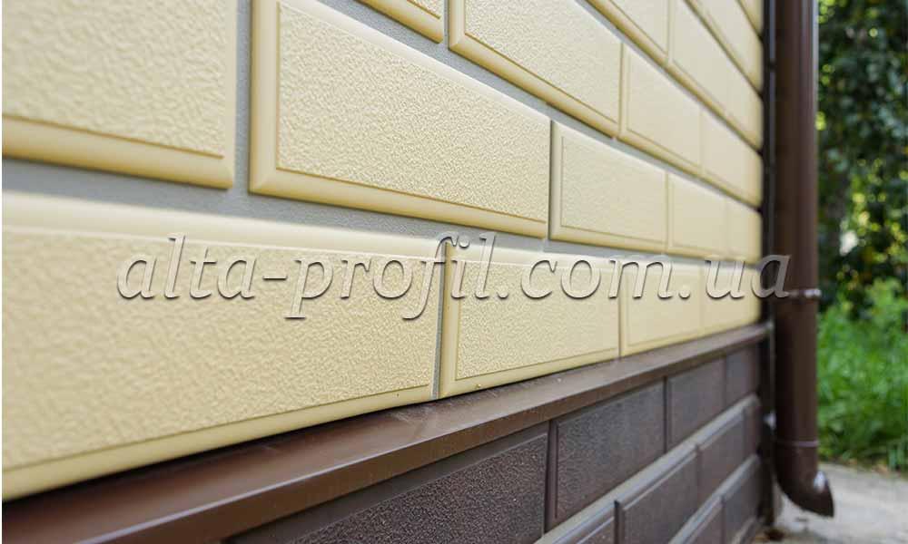 фото фасада с цокольным сайдингом веницианский камень