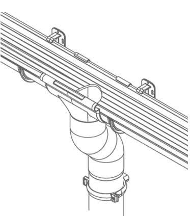 Крепление воронки водосточной