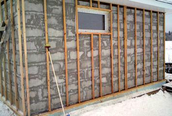 подготовка стен к монтажу
