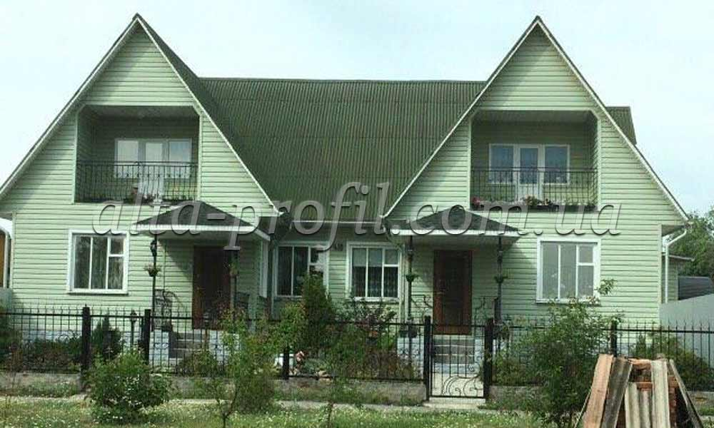 зеленый сайдинг, фото дома