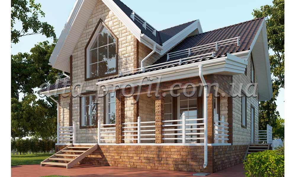 фасадные панели гранит альта-профиль, фото на доме