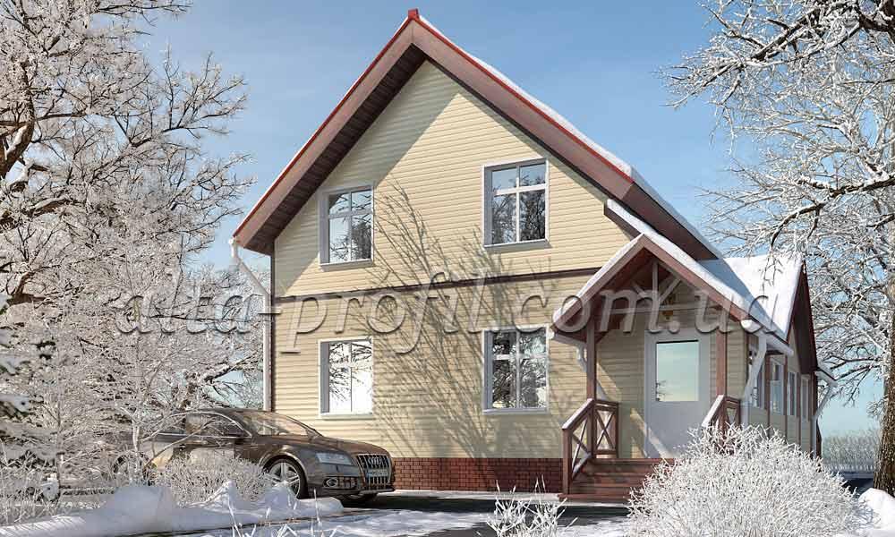 дом с сайдингом на фасаде, фото