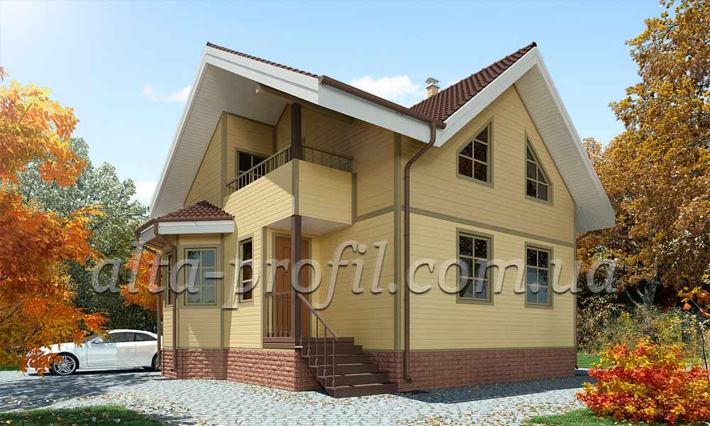 фото фасада с сайдингом желтым