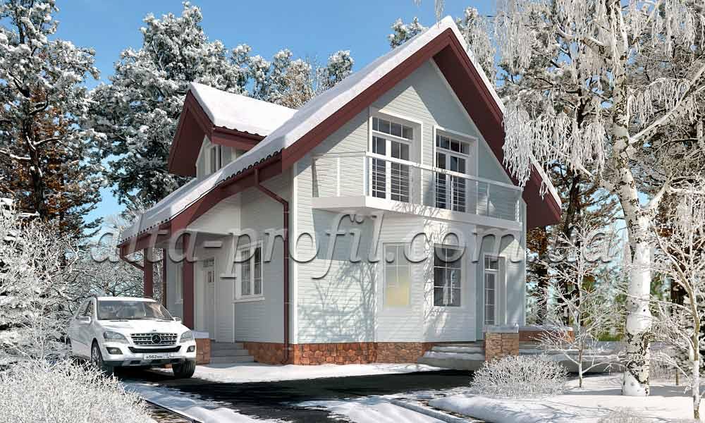 кремовый сайдинг на фасаде дома, фото