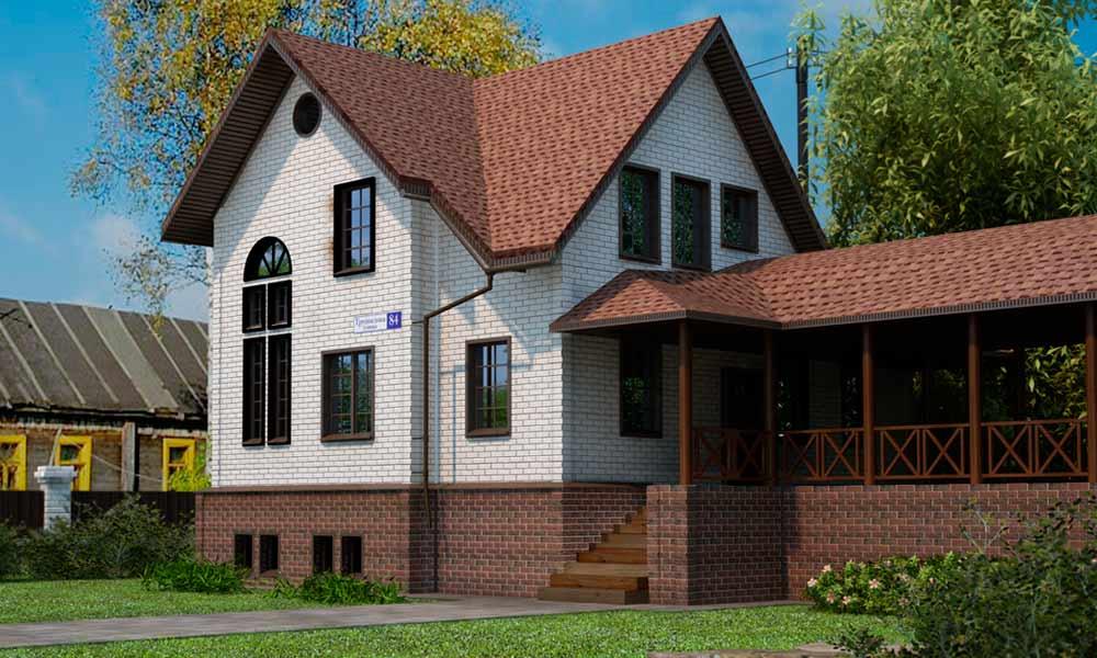 фасадные панели на облицовке дома под кирпич, фото