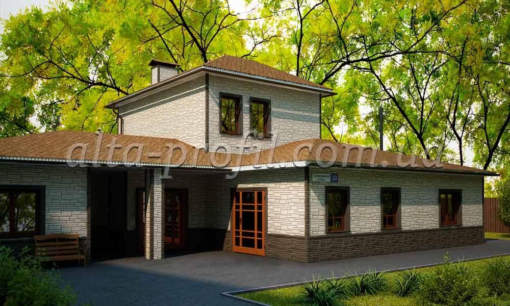дом с фасадными панелями альта-профиль. фото