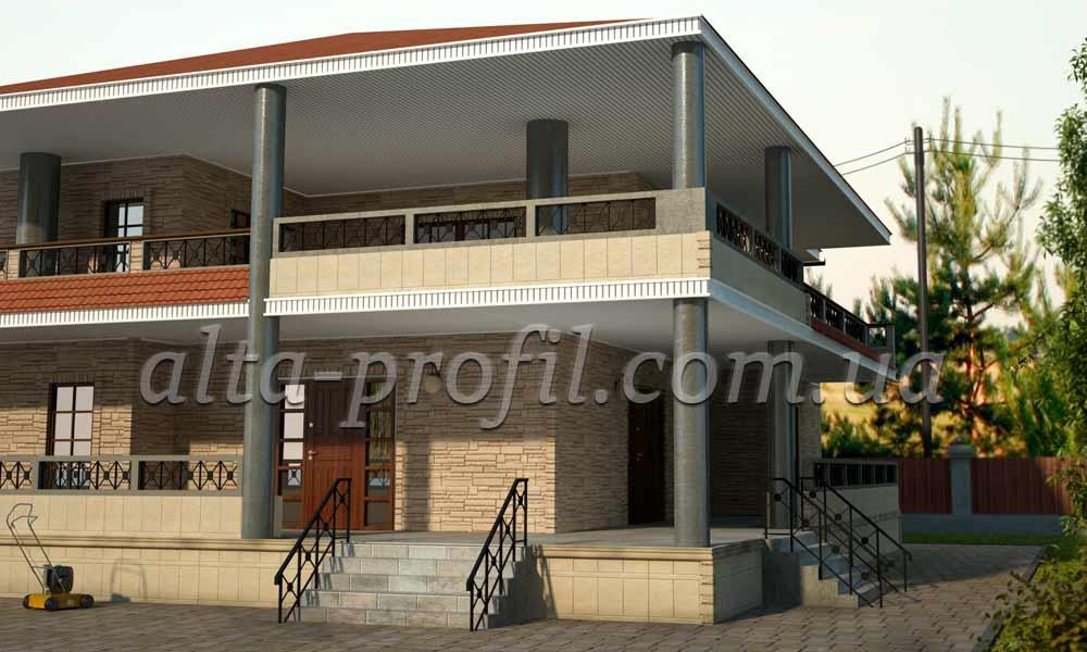 з-д модель дома с фасадными панелями