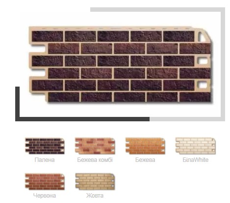 Фасадная панель для балкона Кирпич клинкерный