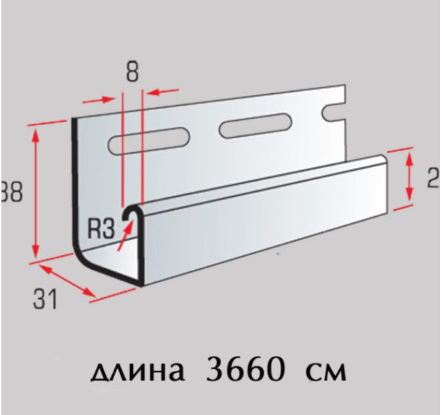 Обшивка балкона - использование j-trim планки