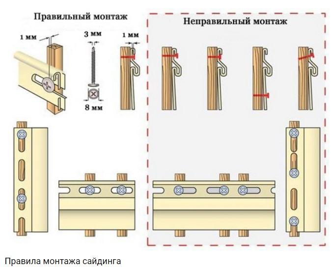 Обшивка балкона - крепеж сайдинга