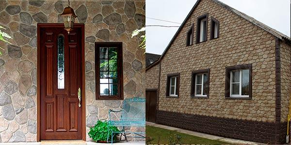 Отделка фасада дома камнем или фасадными панелями под камень: сравнение