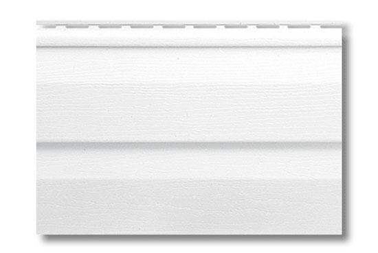 Сайдинг Alta-Siding Білий вініловий, двопереломний, 3660х230х1,1 мм
