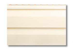 Сайдинг виниловый Альта-Профиль Alta-Siding двухпереломный 3660х230х1,1 мм кремовый