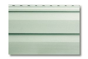 Сайдинг виниловый Альта-Профиль Alta-Siding двухпереломный 3660х230х1,1 мм серо-зеленый