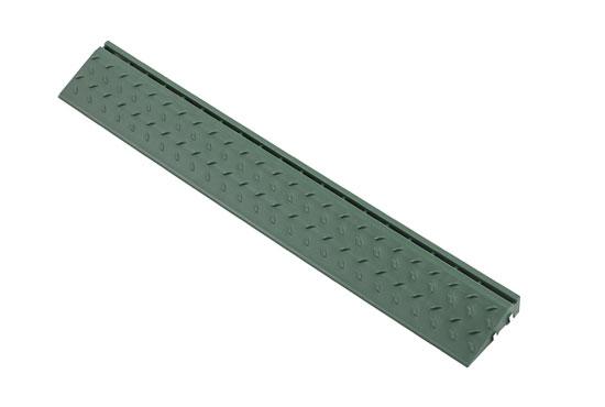 Боковий елемент обрамлення з пазами під замки для газонної решітки, зелений
