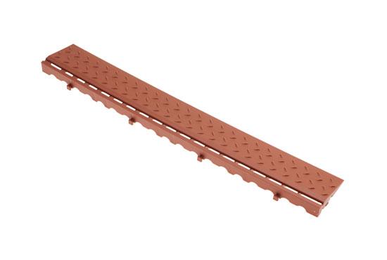 Боковий елемент обрамлення з замками для газонної решітки, коричневий