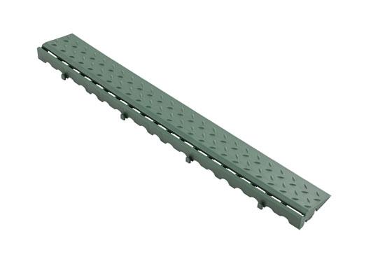 Боковий елемент обрамлення з замками для газонної решітки, зелений