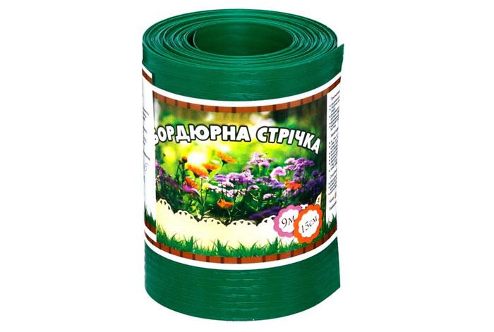 Бордюрна стрічка Зелена без перфорації, 0,5х150х9000 мм, ТМ Альта-Сад