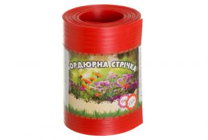 Бордюрная лента садовая Альта-Профиль без перфорации 0,65х150х9000 мм красная