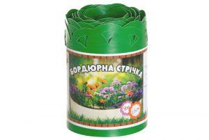 Бордюрна стрічка Салатова перфорована, 0,65х150х9000 мм, ТМ Альта-Сад