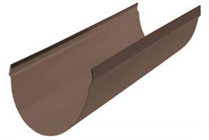 Желоб ПВХ Альта-Профиль Стандарт 74 мм коричневый