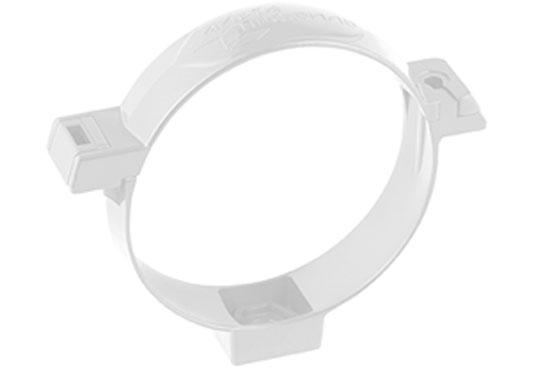 Хомут труби Стандарт 74 мм Білий, Альта-Профіль