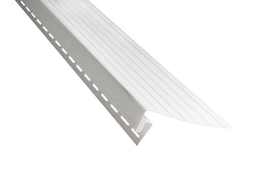 """Планка """"фаска"""" Alta-Siding біла 3660х20 мм"""