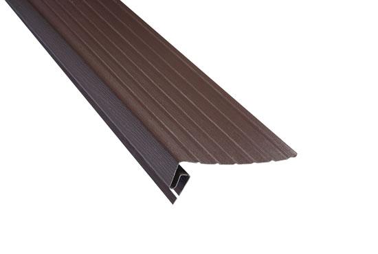 """Планка """"фаска"""" Alta-Siding коричнева 3660х20 мм"""