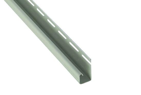 """Планка """"J-trim"""" Alta-Siding сіро-зелена 3660 мм"""