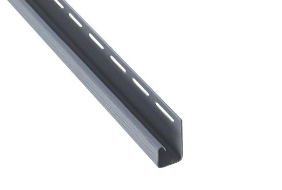 """Планка """"J-trim"""" Alta-Siding світло-сіра 3660 мм"""