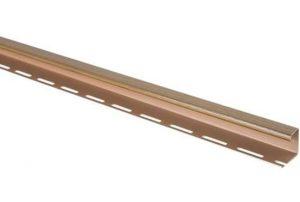 J-trim профиль «Дуб светлый» для фасадных панелей