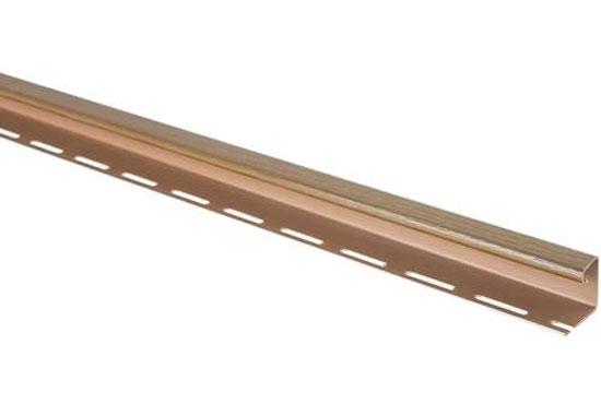 """J-trim профіль """"Дуб світлий"""" для фасадних панелей"""