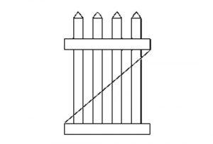 """Калитка для забора """"Fazenda"""" (104,14х91,44 см.)"""