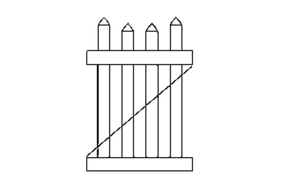 "Хвіртка для паркану ""Villa"" (104,14х91,44 см.)"