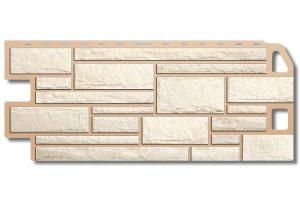 Камень Белый, Фасадная панель,1130х470х2 мм