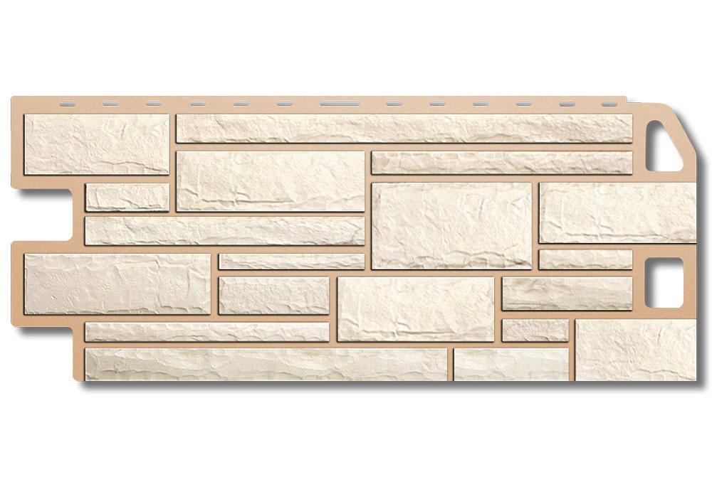 Камінь Білий, Фасадна панель, 1130х470х2мм